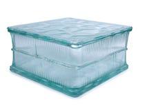 玻璃蓝色砖 图库摄影