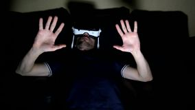 玻璃虚拟现实戏剧的人 股票录像