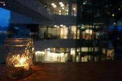 玻璃蜡烛 库存照片