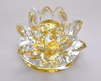 玻璃装饰-一朵开花的花 图库摄影