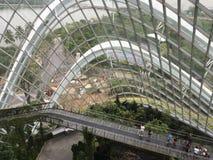 玻璃议院庭院 库存图片