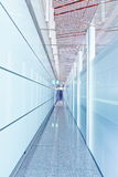 玻璃走廊内部 图库摄影