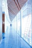 玻璃走廊内部 免版税库存照片