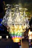 玻璃酒吧柜台 库存图片
