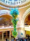 玻璃雕塑在维多利亚和阿尔伯特博物馆 库存图片