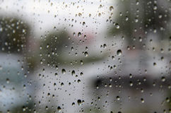 玻璃雨珠 库存图片