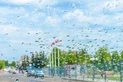 玻璃雨 免版税库存照片
