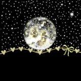 玻璃雪球诞生场面圣诞卡 免版税图库摄影