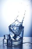 玻璃飞溅水 库存图片