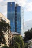 玻璃高层商业中心 免版税库存图片