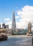 玻璃,伦敦碎片  免版税库存图片