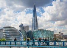 玻璃,伦敦碎片  库存照片