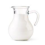 玻璃水罐牛奶 图库摄影