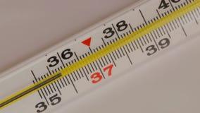 玻璃水银的温度计 影视素材
