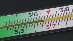 玻璃水银的温度计 股票视频