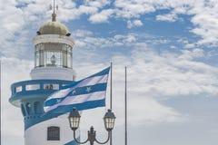 瓜亚基尔塞罗圣安娜灯塔 免版税库存图片