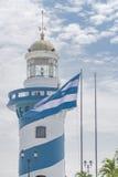 瓜亚基尔塞罗圣安娜灯塔 免版税库存照片