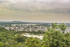 瓜亚基尔郊外鸟瞰图,厄瓜多尔 图库摄影