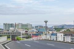 瓜亚基尔都市风景鸟瞰图 库存图片