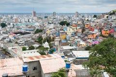 瓜亚基尔,厄瓜多尔全景  库存照片