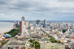 瓜亚基尔,厄瓜多尔全景  免版税库存图片