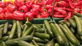 黄瓜和胡椒 免版税库存图片