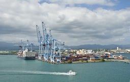 瓜德罗普岛端口海运 库存图片