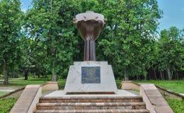 瓜德罗普,小的运河,法国-可以10 2010年:奴隶纪念碑 免版税库存图片