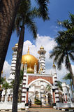 瓜拉江沙县的,霹雳州,马来西亚Ubudiah清真寺 库存照片
