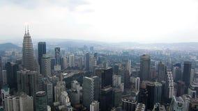 瓜拉隆普尔9月29日:在黄昏期间的吉隆坡都市风景 影视素材