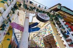 瓜拉登嘉楼,马来西亚- 2015年4月11日:墙壁上的艺术decoratin 免版税库存图片