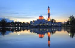 瓜拉ibai terengganu的马来西亚清真寺 库存图片