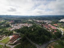 瓜拉Krai镇鸟瞰图  免版税库存照片