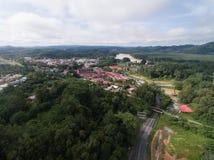 瓜拉Krai镇鸟瞰图  库存照片