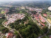 瓜拉Krai镇鸟瞰图  图库摄影