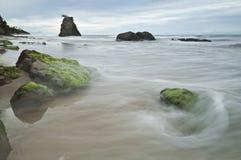 瓜拉Penyu海滩亚庇沙巴马来西亚 免版税库存照片