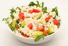 黄瓜新鲜的莴苣混合沙拉蕃茄蔬菜 免版税库存图片