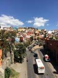 瓜纳华托州五颜六色的议院 库存图片