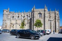 瓜达区,葡萄牙- 2017年9月14日:瓜达区大教堂  图库摄影