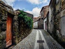 瓜达区,葡萄牙` s古老犹太区, Judiaria,保留了它的14世纪魅力 库存图片