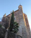 瓜达卢佩河圣玛丽亚皇家修道院在瓜达卢佩河 西班牙 库存图片