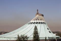 瓜达卢佩河大教堂在墨西哥城 库存照片