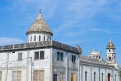 瓜达卢佩河教会在格拉纳达尼加拉瓜 免版税库存图片