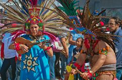 瓜达卢佩河的维尔京的宗教节日在墨西哥城 免版税图库摄影