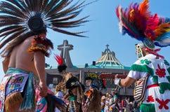 瓜达卢佩河的维尔京的宗教节日在墨西哥城 免版税库存图片