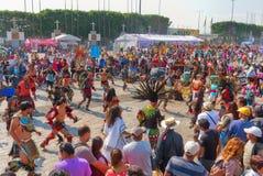 瓜达卢佩河的维尔京的宗教节日在墨西哥城 库存图片