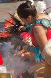 瓜达卢佩河的维尔京的宗教节日在墨西哥城 免版税库存照片