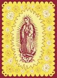 瓜达卢佩河-葡萄酒海报的墨西哥维尔京 免版税库存照片