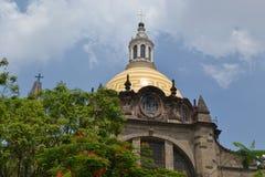 瓜达拉哈拉大教堂上面  免版税库存图片