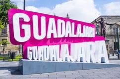 瓜达拉哈拉标志 免版税库存图片